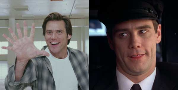Jim Carrey în filmele Bruce Almighty şi Dumb And Dumber